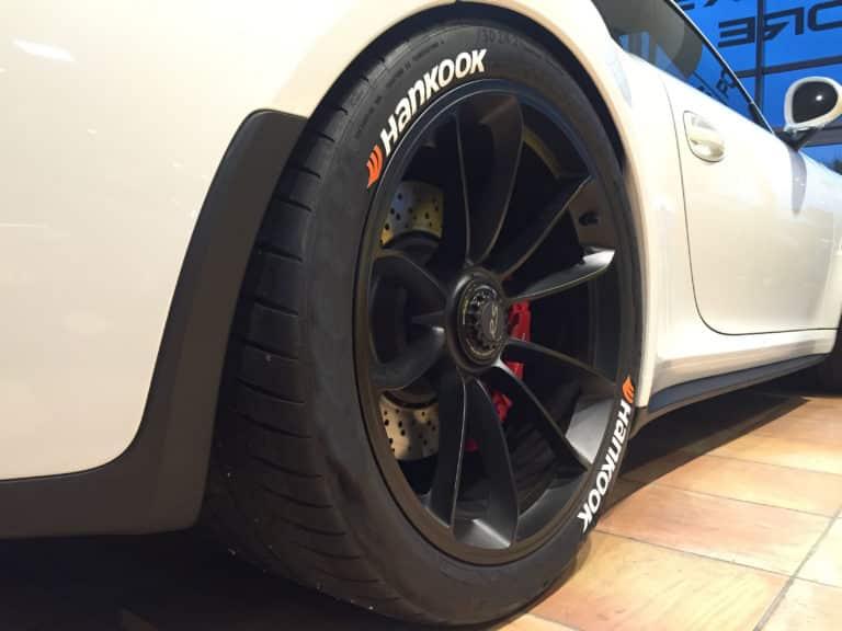 Reifenmarke Hankook Reifenaufkleber