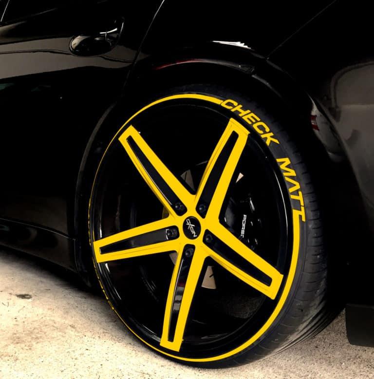 Reifenstripes-gelb reifenaufkleber