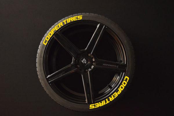 Reifenaufkleber-Cooper-Tires-gelb-8er