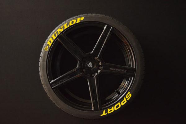 Reifenaufkleber-Dunlop-Sport-gelb-8er