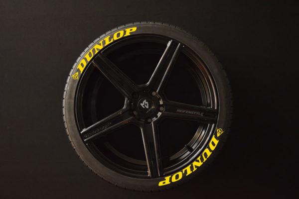 Reifenaufkleber-Dunlop-gelb-8er