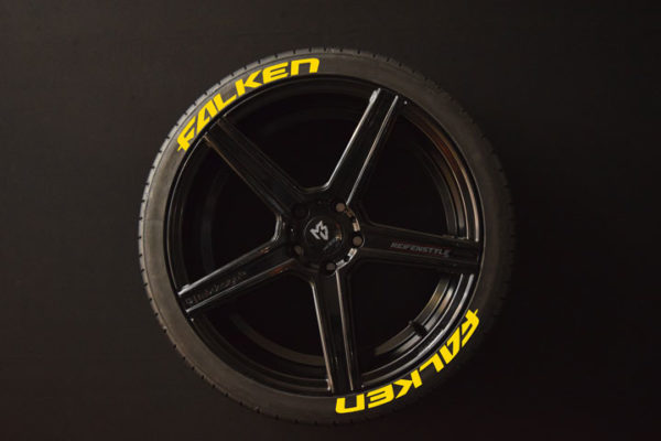 Reifenaufkleber-Falken-gelb-8er