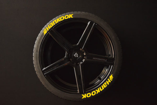 Reifenaufkleber-Hankook-gelb-8er