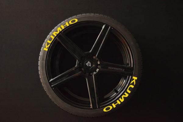 Reifenaufkleber-KUMHO-gelb-8er