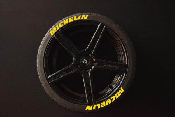 Reifenaufkleber-Michelin-gelb-8er