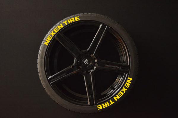 Reifenaufkleber-NEXEN-TIRE-gelb-8er