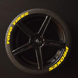 Reifenaufkleber-TOYO-TIRES-PROXES--WIDEgelb-8er