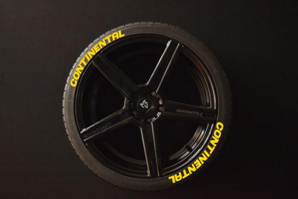 Reifenaufkleber-Continental-gelb-8er