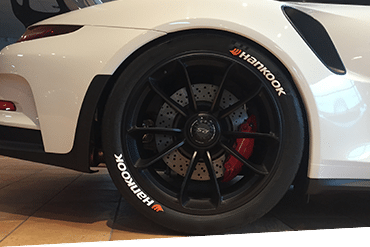 Reifenmarke Hankook Reifenaufkleber Reifenbeschriftung