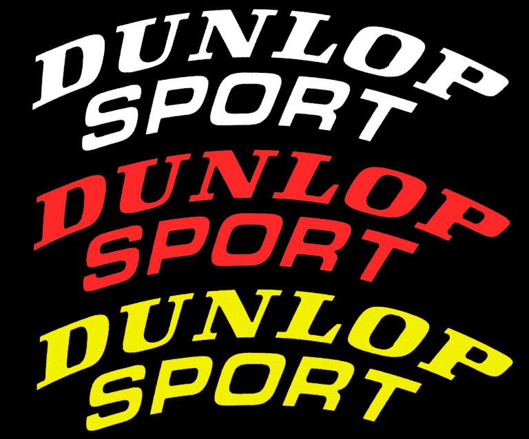 Dunlop-Sport-Reifenaufkleber-Tiresticker