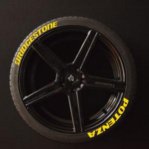 Reifenaufkleber-Bridgestone-Potenza-Gelb-8er