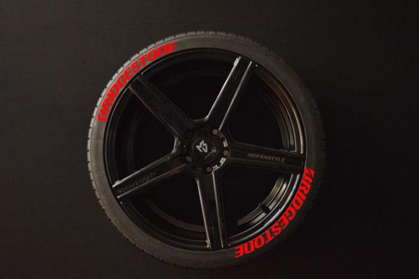 Reifenaufkleber-Bridgestone-Rot-8er