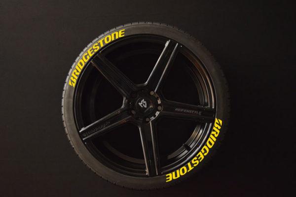 Reifenaufkleber-Bridgestone-gelb-8er