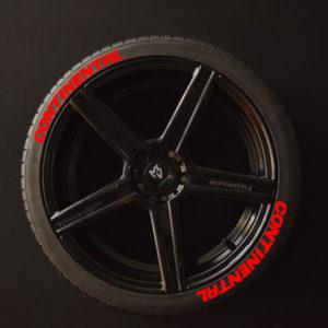 Reifenaufkleber-Continental-rot-8er