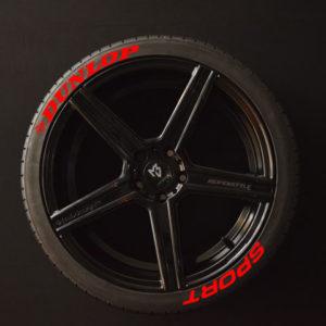 Reifenaufkleber-Dunlop-Sport-rot-8er