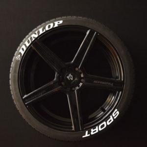 Reifenaufkleber-Dunlop-Sport-weiss-8er
