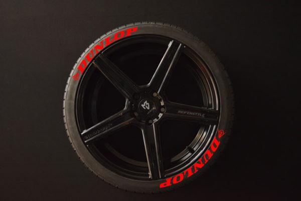 Reifenaufkleber-Dunlop-rot-8er