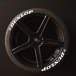 Reifenaufkleber-Dunlop-weiss-8er