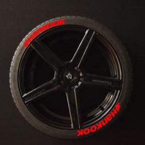 Reifenaufkleber-Hankook-rot-8er