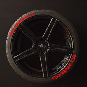 Reifenaufkleber-KUMHO-rot-8er