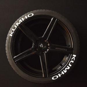 Reifenaufkleber-KUMHO-weiss-8er