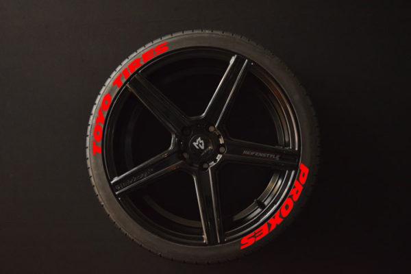 Reifenaufkleber-TOYO-TIRES-PROXES--WIDE-rot-8er