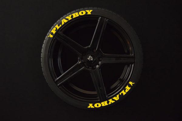 Playbob-gelb-reifenaufkleber-8er