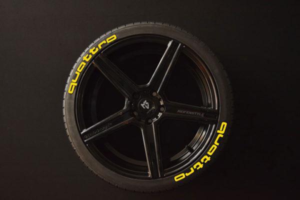 Reifenaufkleber-quattro-8er-gelb
